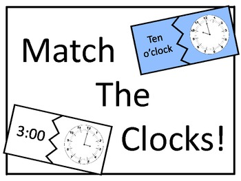 Match the Clocks to the Hour