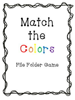 Match the Colors File Folder Game