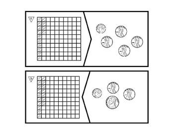 Match the Decimal - Base Ten and Money Representation TEK 4.3E