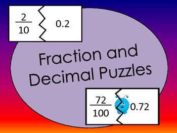 Match the Decimal to the Fraction