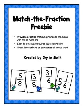 Match the Fraction... A Freebie