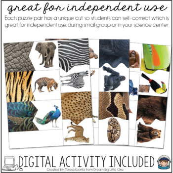 Match the Fur to the Zoo Animal – Visual Discrimination Science Activity