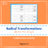 Match the Graph Radical Function Transformations (PrBL activity)