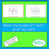 """Match the Graphs of F and F ' (4.25"""" by 5.5"""")"""