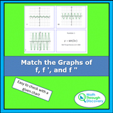 Match the Graphs of f, f ', and f ""