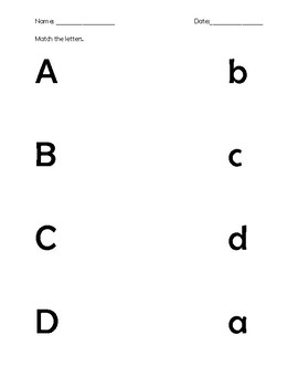 Match the Letters