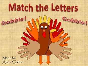 Match the Letters Thanksgiving Center Game