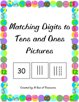 Match the Number to the Tens and Ones Quick Picture