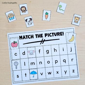 Match the Picture! Kindergarten Beginning Sound/Letter Matching Activity