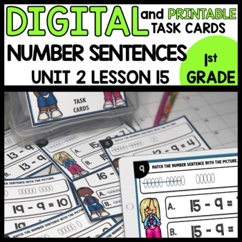 Match the Picture to the Number Sentence DIGITAL TASK CARDS | PRINTABLE
