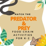 Match the Predators and Prey Food Chain Activity