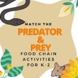 Match the Predators and Prey Food Chain Activity