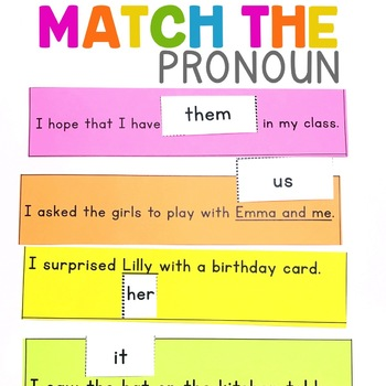 Match the Pronoun | Pronouns Center