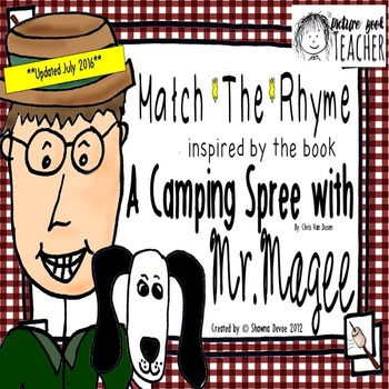 Match the Rhyme Game inspired by A Camping Spree w/ Mr. Magee by Chris Van Dusen