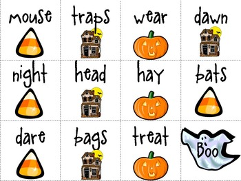 Match the Rhyme Game inspired by The Night Before Halloween
