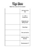 Match the Rhythm Music Lesson Printable - The Zoo