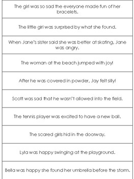 Match the Sentence adapted book to help children discern emotions