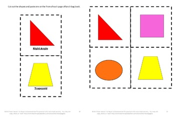Shapes, Shapes Matching, Lunch Sack Book