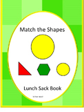 Shapes Matching Lunch Sack Book Fine Motor Activities Early Childhood