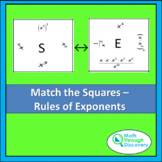 Match the Squares Puzzle - Rules of Exponents