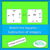 Match the Squares Puzzle - Subtraction of Integers - 16/20