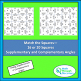 Match the Squares Puzzle - Supplementary and Complementary Angles