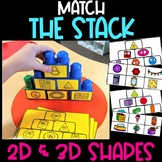 Match the Stack 2D Shapes and 3D Shapes   Shape Identifica