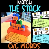 Match the Stack CVC Words   All Short Vowels Included   CV