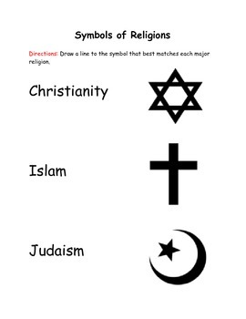 Match the Symbol to the Religion it Represents