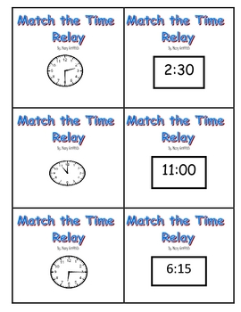 Match the Time Relay Game