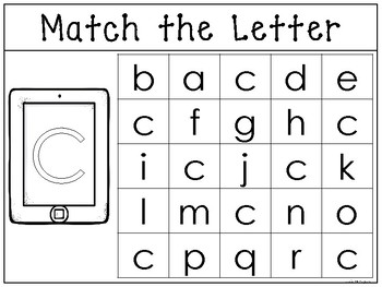 Match the Uppercase to the Lowercase Letter Worksheet/Work Mat. Alphabet Phonics