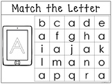Match the Uppercase to the Lowercase Letter Worksheet/Work