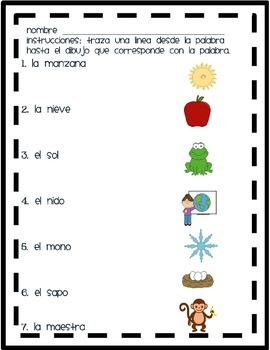 Review M, S, and N in Spanish