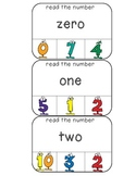 Match the number words to numbers 0-20, 20-100 clothespin