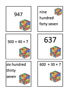 Match the numbers