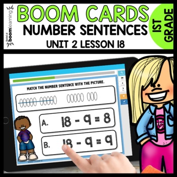 Match the picture with the number sentence BOOM CARDS [Module 2 Lesson 18]