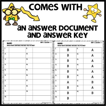 Match the picture with the number sentence DIGITAL/PRINTABLE TASK CARDS