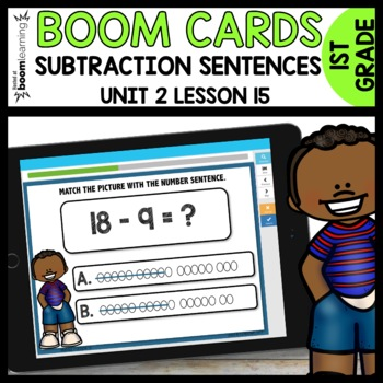 Match the picture with the subtraction sentence  BOOM CARDS [Module 2 Lesson 15]