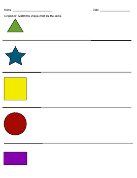 Match the shapes that are the same but different sizes