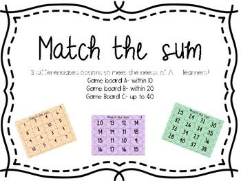 Match the sum
