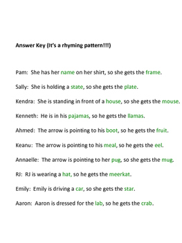 Match-up Riddle Fun-Sheet for Gifted and Talented 4th-6th Graders