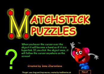 MatchSticks Puzzles PowerPoint Game Freebie