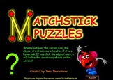 MatchSticks Puzzles PowerPoint Game Freebie