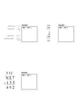 Matchbook Foldable for Addition & Subtraction