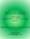 Matched Ally Condie 344 Chapter Questions, 164 Vocab Words
