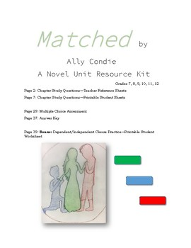 Matched (Ally Condie) Novel Unit Resource Kit