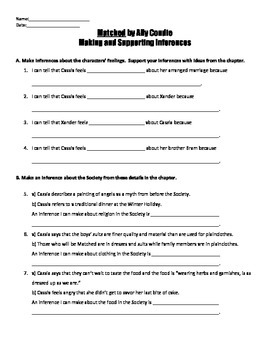 Matched Reading Strategies Handouts