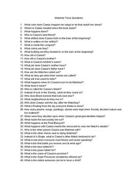 Matched Trivia Questions