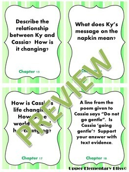 Matched by Ally Condie High Level Discussion Cards