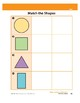 Matches Shapes (Math Assessment PreK)